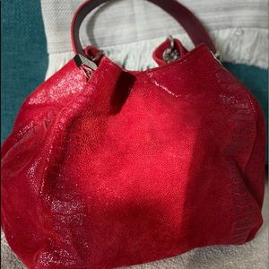 Prune Leather Handbag